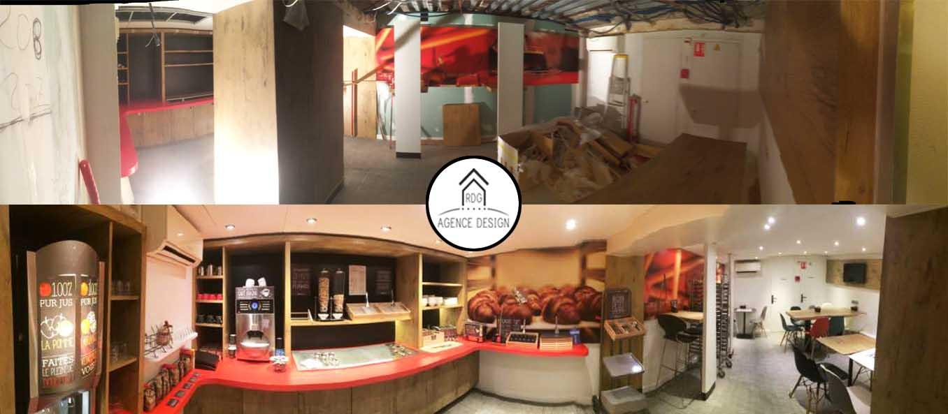 Rénovation d'un hôtel avant/après