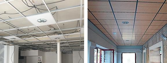 Faux plafonds - Plafond en dalles